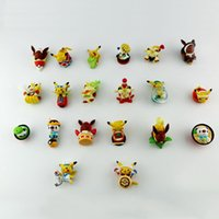 Wholesale 3cm japanese anime dragon poke action figures pvc soft Pikachu figurine model kids toys by DHL good quality