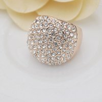 Cheap Mavis Ornament Hot Sale Gold Rings Fashion Jewelry New Women's Party Rose Gold Plating Shiny Crystal Ring High Quality Free Shipping