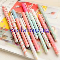 Wholesale 10 Pieces set mm Black Colors Gel Pen Stationery Office Learning Cute Pen Kandelia