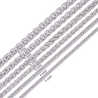 african baskets - Width mm to mm L Stainless Steel Mens Necklace Twist Chain Knitting Rope Flower Basket Chain inches Never Fade