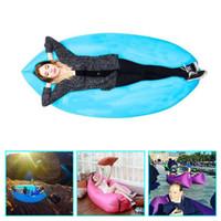 air mattress - 5pcs Camping Sleeping Air Sofa Seconds Quick Open Lazy Chair Ourdoor Bed Fast Inflatable Lamzac Hangout Sleeping Bag Sofa Loung