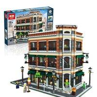 Wholesale LEPIN Creator Starbucks Bookstore Cafe Model Building Kits Minifigure Blocks Bricks Compatible Toys Gift
