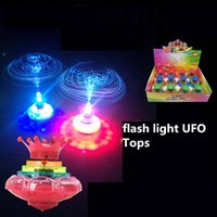 Wholesale D Beyblades with flash light beyblades toys with UFO tops scopperil for Children s Day gift toys
