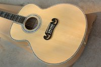 acoustic nut - Real Abalone Inlay Ebony Fretboard Tiger Flamed Maple Back Sides Neck J200 Bone Nut quot Solid Spruce Top Acoustic Guitar S J200
