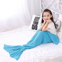 Wholesale 2016 Hot Children Mermaid Blanket On Summer Solid Air Conditioning Blacket Printing Acrylic Fibres Kids Red Nap Blanket