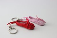 ballet teacher gifts - MINI dancer ballet shoes keyring keychain Mother teacher Day small wedding gift advertising gift custom logo mini shoes furnish key ring