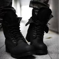 Wholesale Free drop shipping new arrival vintage luxury high quality Men s short boots leather army boots