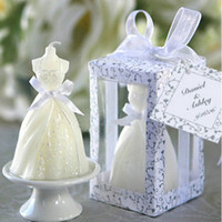 Wholesale New White Bridal Wedding Dress Shape Candle Bougie Wedding Party Decor Candle