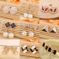Wholesale Hot Summer Style Pearl Earrings Earrings for women Cheap jewelry Charms Earrings good earrings jewelry pendant Variety of styles