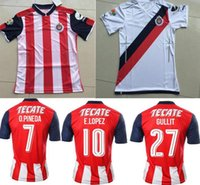 Wholesale DHL shipping Chivas Guadalajara soccer jerseys thai quality Chivas Guadalajara home away shirt BRAVO REYNA soccer football Jersey