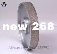 Wholesale 4 quot mm Vacuum Brazed Diamond FLAT Wheel Stone Edging Wheel especially For Resin Glass etc