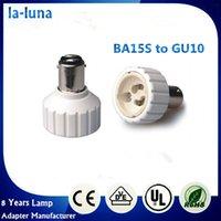 2016 venta caliente llevó BA15S soporte de la lámpara a GU10 adaptador de soporte de la bombilla de luz LED CFL PBT ignífugo adaptador de RoHS del CE GU10 ~ BA15S