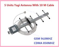 Wholesale MHz GSM MHz Outdoor External Yagi Antenna with N connector and m Black White Cable