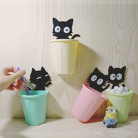 adhesive toothbrush holder - 2pcs Self adhesive wall storage box toothbrush holder wall shelf Jewelry Cosmetic Stationery Organizer home bathroom Accessories