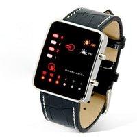 autos deportivos - JECKSION Leather Band Digital LED Watch Red Men Sport Watch Binary Watches Women Men Clock Relojes Mujer Deportivos Horloge
