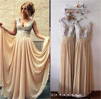 Strapless long dresses - Hot Selling Cheap Long Evening Dresses Deep V Neck Prom Dresses Sequins Pleated A Line Long Chiffon Formal Evening Gowns BO3389