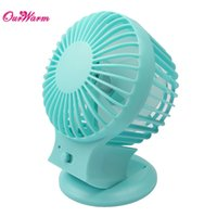 Wholesale USB Rechargeable Double Blade USB Mini Fan Portable Desk Mute Ultra quiet Cooling Fan with Speed Modes Summer Supplies