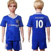 Wholesale 2017 Kids Kit Chelsea Football Jersey Chelsea Home Blue Boy Soccer Jersey Hazard Costa Oscar Falcao Child Soccer Shirts