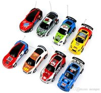 Wholesale Mini Racer Remote Control Car Coke Can Mini RC Radio Remote Control Micro Racing Car By DHL