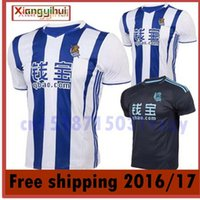 Wholesale The best quality of the Royal Society in white home jersey soccer jersey home blue shirt Thailand quality Real Sociedad Real Socieda