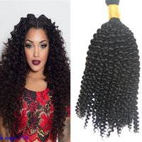 Wholesale Hot Afro Kinky Curly Bulk Hair for Braidings Human no Attachment g Grade a Unprocessed Brazilian Kinky Curly Hair no Weft