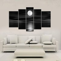 Wholesale 5PCS Unframed Huge Modern Hand painted Oil Paintings on Canvas Wall Decoration Abstract Art Prints for Living Room Office Hotel H16956