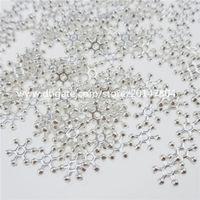 alloy spacers - 13177 Alloy Silver Tone Mini Snowflower Snowflake Snow Spacer Bead Charms