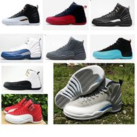 best taxi - best Quality s Mens Basketball Shoes OVO White Flu Game PSNY women Sneaker The Master Gym Red Taxi Playoffs Shoes With Box