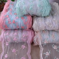 Wholesale 28yards five color embroidery net Lace Fabric Trim DIY sewing cloth doll Fabric width cm