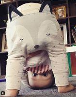 Cheap Adorable Children Pants INS Baby Kids Clothing Full Cotton Fox Harem Pants Infant Long Trousers 2 Color Toddler PP Pants All Match Wear 9518