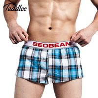 Wholesale Taddlee Brand Mens Sports Underwear Sexy Cotton Big Plus Size Men Running Yoga Shorts Boxers Trunks Gay Solid Undershirts New