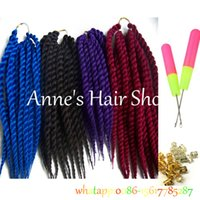 Wholesale 1pcs Havana Mambo Twist Crochet Braid Hair Senegalese Twist Hair Crochet Synthetic Hair Kanekalon Kinky Marley Twist Braids
