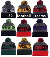 Wholesale 2016 New Beanies Hats American Football team pom Sports Beanie Knitted Hats drop shippping Snapbacks Hats mix order album offered