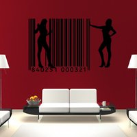 barcode wall sticker - 2015 New Arrival Sexy Lady Living Room Home Decor Black Removable Waterproof PVC Female Barcode Wall Sticker