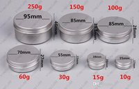 Wholesale 10 ml Empty Aluminium Cosmetic Containers Pot Lip Balm Jar Tin For Cream Ointment Hand Cream Packaging Container Box