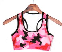 Wholesale 2016 new arrival women yoga bras Red camouflage free sports bra Wireless sports bra vest for yogs