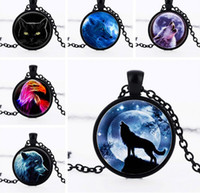 american universe - 10Pcs Necklaces European and American Wolf Totem Universe Gemstone Pendant Necklaces Mix Style July Style
