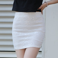 Wholesale Summer Lace Skirts Pack Hip Waist Skirt Stretch Wrapped Skirt Fashion Women Skirts