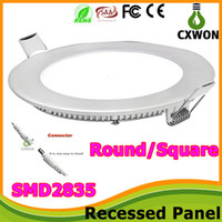 Wholesale Square Round w W W W W Led Slim Panel Lights Recessed Downlights thin ceiling lights AC V Driver for indoor decorations