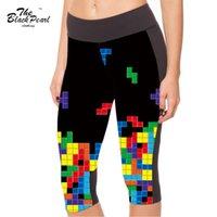 american intelligence - S XL New Women s point pants women legging Intelligence Tetris game digital print women high waist Side pocket phone pant
