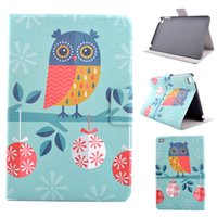 animal cover case ipad - For Apple ipad mini4 OWL Printed Flower PU leather stand Cover case for ipad mini smart cover