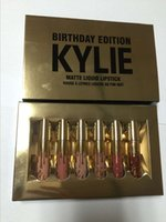 one price - Single Kylie Birthday Edition birthday gifts lip gloss enamel package one box DHL Discount Price