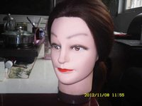 training manikins - 12inches inches Cheap synthetic hair Manikin head mannequin head training head for Salon and School Hairdressing Makeup Practice factory