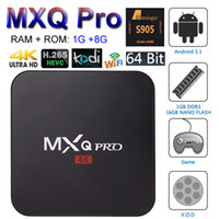 android media player box - MXQ Pro Android TV Box Amlogic S905X Quad Core bit Smart Mini PC G G Support Wifi Kodi K H Streaming Google Media Player