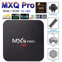 al por mayor medios de transmisión-MXQ Pro Android 6.0 TV Box Amlogic S905X Cuádruple núcleo 64bit Smart PC 1G 8G Soporte Wifi Kodi 4K H.265 Streaming de Google Media Player