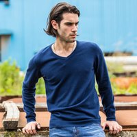 Wholesale 2016 New Mens Sweaters famouse brand Pull Homme Pullover Men Casual leisure Jersey Hombre Cotton v neck Plus Size