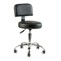 Wholesale Black Hydraulic Stool Chair Facial Salon Tattoo Beauty Mobile PU Leather
