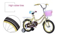 Wholesale 14 Inch Bicycle Children Learn Bicycle Child Princess Baby Bike Steel Bike For Ages Years Old Beige toys Children