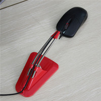 Wholesale New Mouse Cable Holder Mouse Bungee Cord Clip Wire Line Organizer Holder