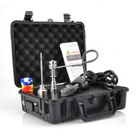 Wholesale Fancier Cheap Pelican Electric Nail Dab Nail Box Kit Temperature Controller Kavlar Coil With Titanium Nails Complete Kit Upgraded